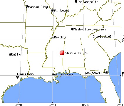 Shuqualak, Mississippi map