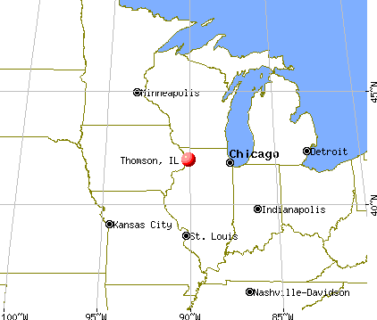 Thomson, Illinois map