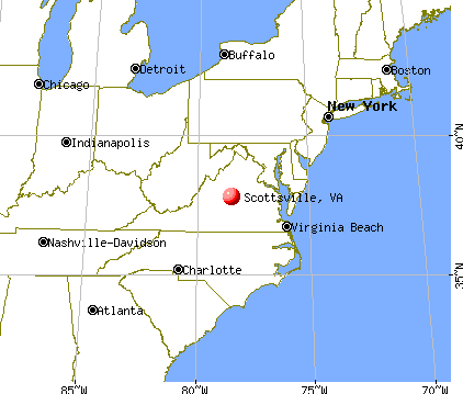 Scottsville, Virginia map