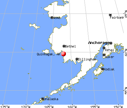 Quinhagak, Alaska map