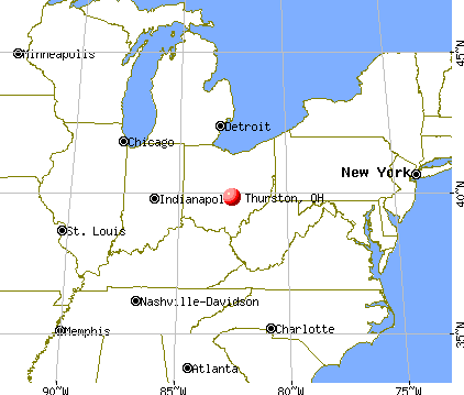 Thurston, Ohio map