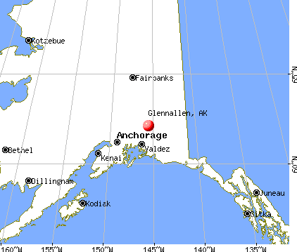 Glennallen, Alaska map