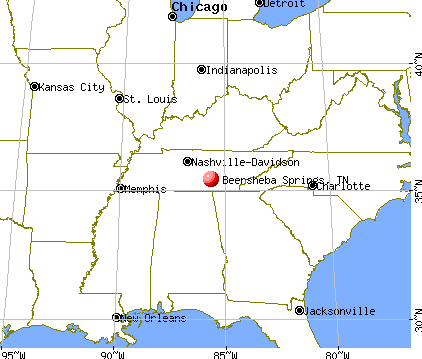 Beersheba Springs, Tennessee map