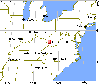 Danville, West Virginia map