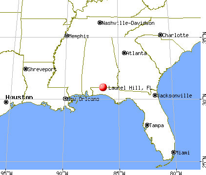 Laurel Hill, Florida map