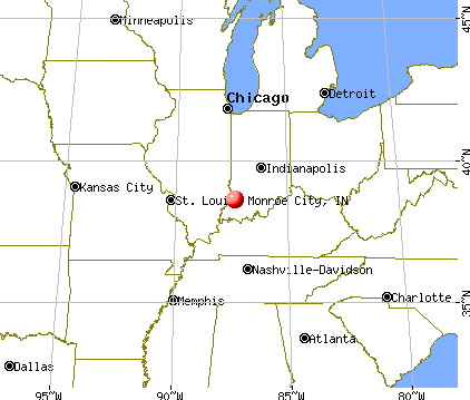Monroe City, Indiana map