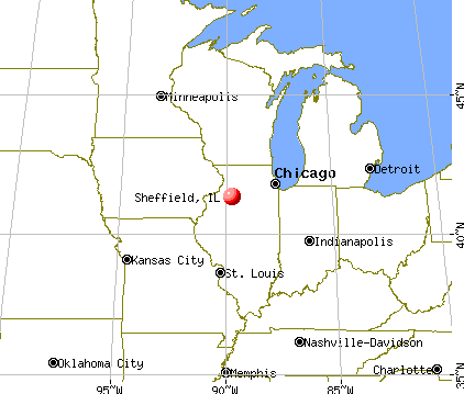 Sheffield, Illinois map