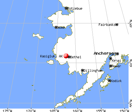 Kasigluk, Alaska map