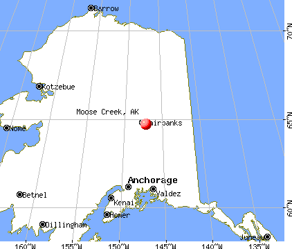 Moose Creek, Alaska map