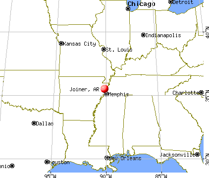 Joiner, Arkansas map