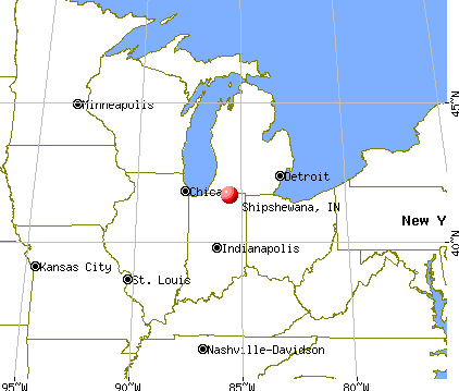 Shipshewana, Indiana map