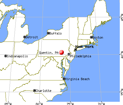 Quentin, Pennsylvania map