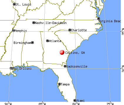 Collins, Georgia map