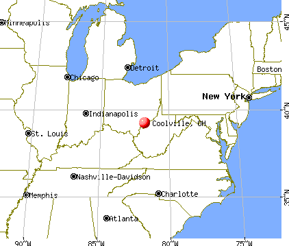 Coolville, Ohio map