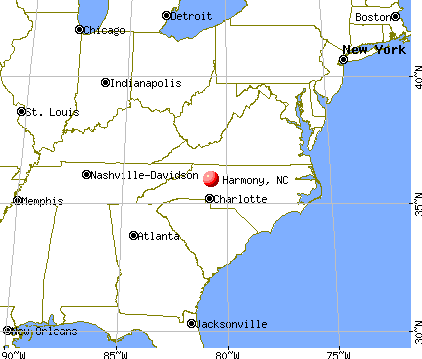 Harmony, North Carolina map