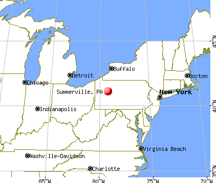Summerville, Pennsylvania map