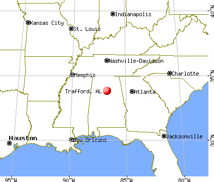 Trafford, Alabama map
