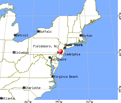 Fieldsboro, New Jersey map