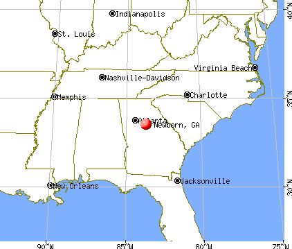 Newborn, Georgia map