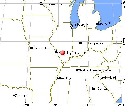 Hoyleton, Illinois map