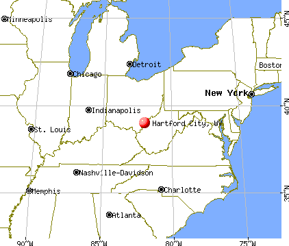 Hartford City, West Virginia map