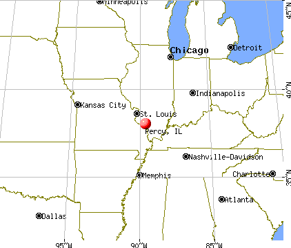 Percy, Illinois map
