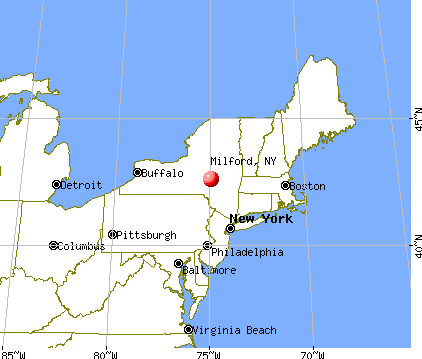 Milford, New York map