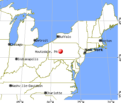 Houtzdale, Pennsylvania map