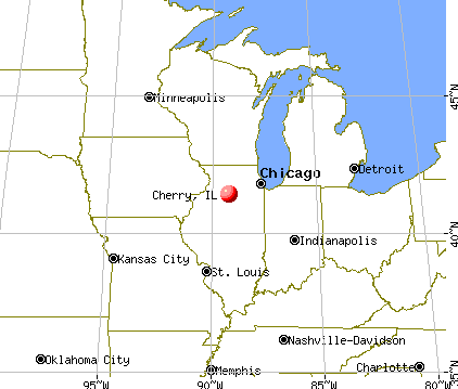 Cherry, Illinois map