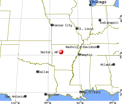 Hector, Arkansas map