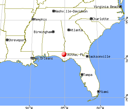 Altha, Florida map