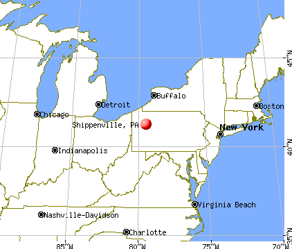 Shippenville, Pennsylvania map