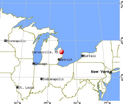 Carsonville, Michigan map