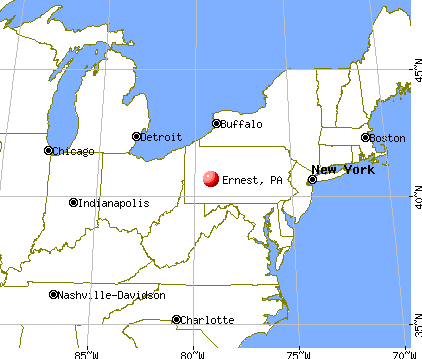 Ernest, Pennsylvania map