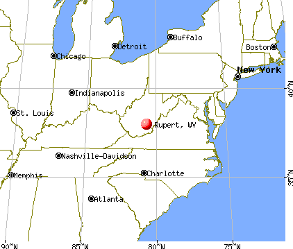 Rupert, West Virginia map