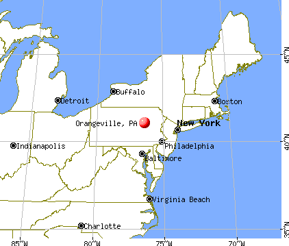 Orangeville, Pennsylvania map