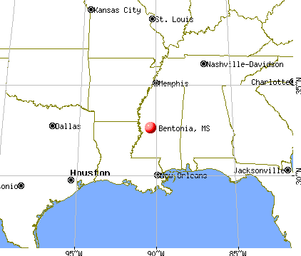Bentonia, Mississippi map
