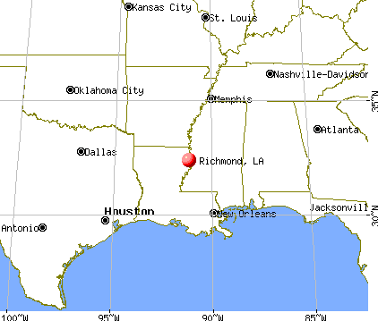 Richmond, Louisiana map