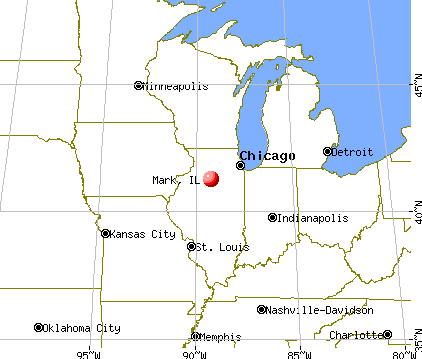 Mark, Illinois map