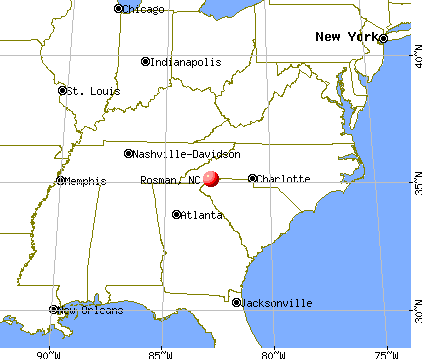 Rosman, North Carolina map