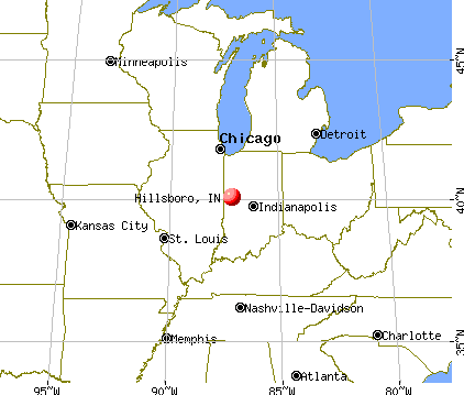 Hillsboro, Indiana map