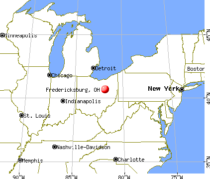 Fredericksburg, Ohio map