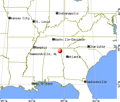Hammondville, Alabama map