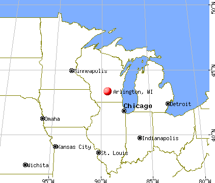 Arlington, Wisconsin map