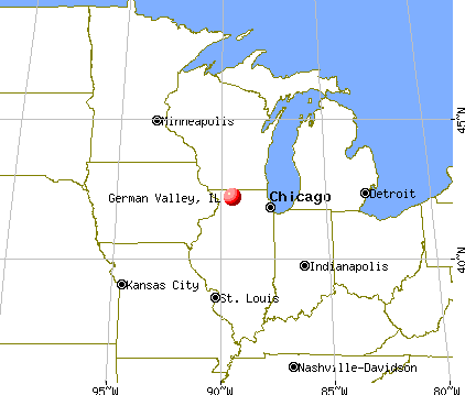 German Valley, Illinois map