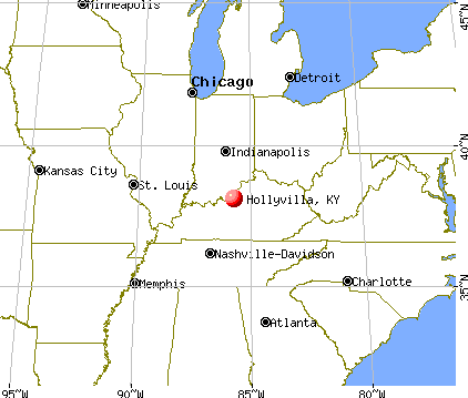 Hollyvilla, Kentucky map