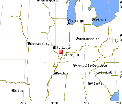 Buckner, Illinois map