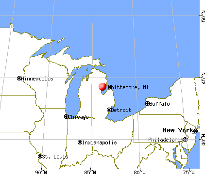 Whittemore, Michigan map