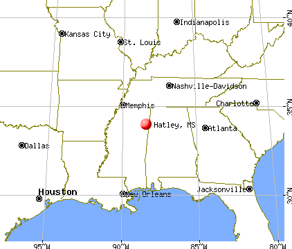 Hatley, Mississippi map