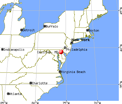 Cecilton, Maryland map